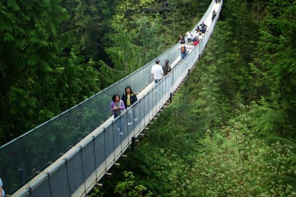 رودخانه کاپیلانو کانادا,اماکن دیدنی کانادا,سفر به کانادا,ویزای تضمینی کانادا,ویزای مولتی 5 ساله کانادا,وقت سفارت کانادا,انگشت نگاری کانادا